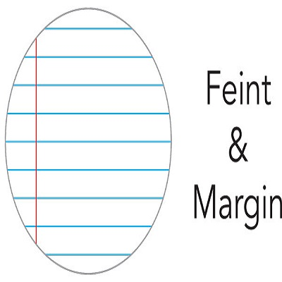 4 Quire Feint&Margin books