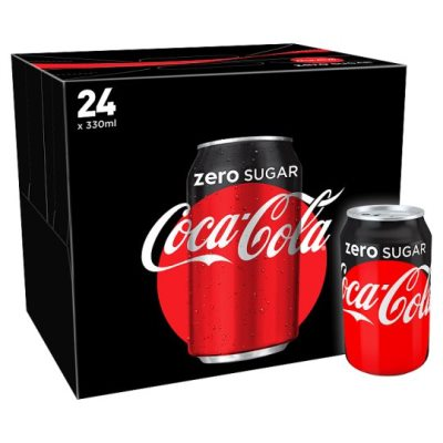 330ml Cocacola Zero Cans 24 Case